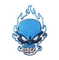 Skull blue skull big