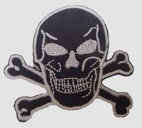 Skull black-white skull big
