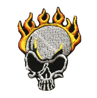 Skull flame skull big