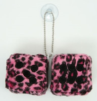 2 dice leopard pink / black 2 dice car accessory