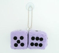 Dice L purple / black 2 dice car accessory