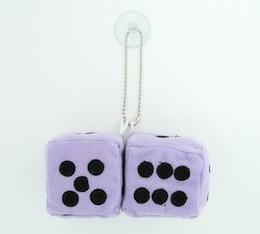 Dice L purple / black 2 dice car accessory