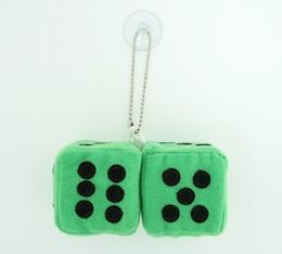 Dice green / black 2 dice car accessory