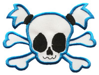 The cutest skull ever with blue border