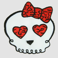 Cute skull white-red skull extra big