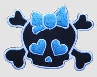 Cute skull bone blue skull extra big