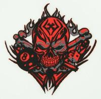 Skull tribal 8 red skull extra big