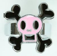 Square pink skull ring