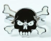 Tooth black skull ring