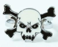 Tooth white skull ring