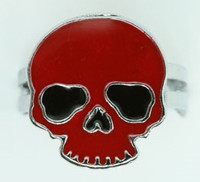 Skull plain red skull ring