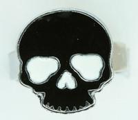 Skull plain black skull ring