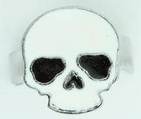 Skull plain white skull ring