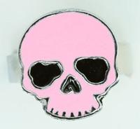 Skull plain pink skull ring