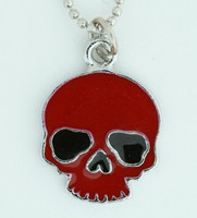 Skull plain red skull necklace