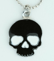 Skull plain black skull necklace