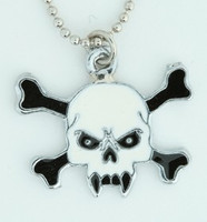 Tooth white skull necklace