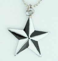 Star black-white star necklace