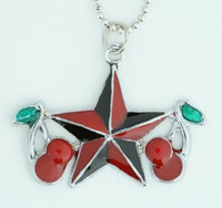 Star cherry black-red star necklace
