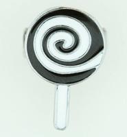 Lolly black-white sweet ring