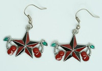 Star cherry black-red star pendant
