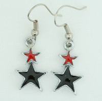 Stars black-red star pendant