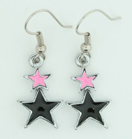 Stars black-pink star pendant
