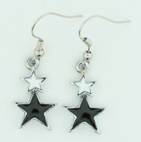Stars black-white star pendant