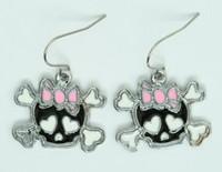 Cute Sk bone Bl-pink skull pendant