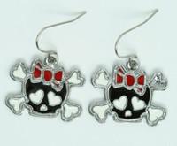 Cute Sk bone Bl-red skull pendant