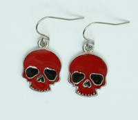 Skull plain red skull pendant