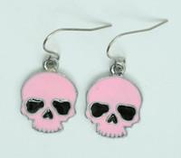 Skull plain pink skull pendant