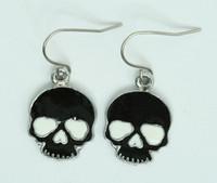 Skull plain black skull pendant