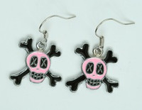 Cross eye pink skull pendant