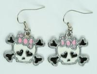 Cute Sk bone white-pink skull pendant