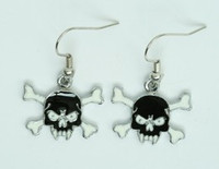Tooth black skull pendant