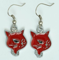 Cat red animal pendant