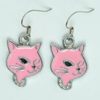 Cat pink animal pendant