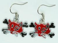 Cat bone red-black animal pendant