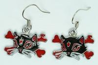 Cat bone black-red animal pendant