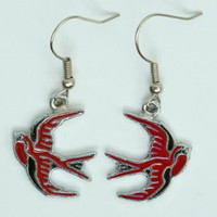 Swallow red animal pendant