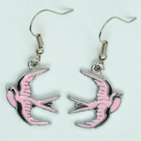 Swallow pink animal pendant