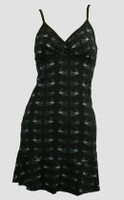 Front - SP swallow black-grey spaghetti dress