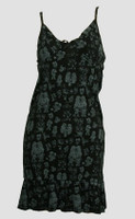 Front - Cartoon black-grey spaghetti dress
