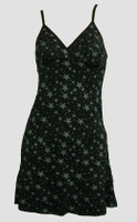 Front - Stars Black-Grey Spaghetti Dress