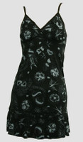 Front - Diva black-grey spaghetti dress
