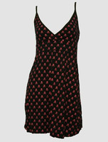 Front - Skull black-red spaghetti dress