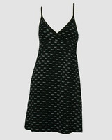 Front - Bat black-grey spaghetti dress