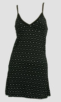Front - SP dot Bs black-white spaghetti dress