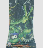 Dragon green fake tattoo sleeves accessory